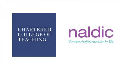 Chartered College of Teaching and NALDIC logos
